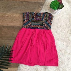 Starring at stars tribal aztec pink fuchsia mini